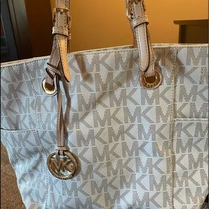 Authentic Michael Kors White large tote